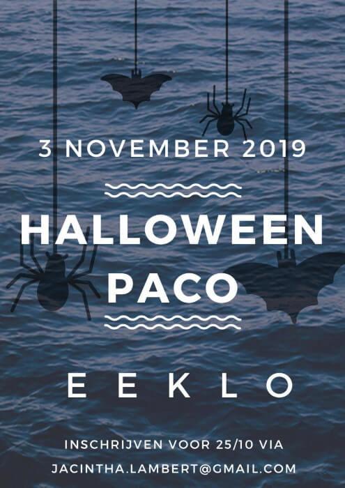 Poster Halloween Paco te Eeklo op 3 november