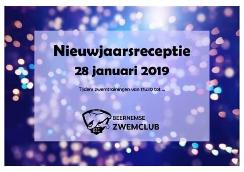 Poster nieuwjaarsreceptie 28 januari 2019