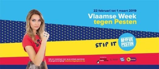 Poster Vlaamse Week tegen Pesten